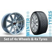 4 X 20 Axe Ex15 Silver Polished Alloy Wheel Rims And Tyres - 265/35/20
