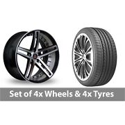 4 X 20 Axe Ex20 Black Polished Alloy Wheel Rims And Tyres - 275/35/20
