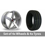 4 X 19 Axe Ex18 Silver Polished Alloy Wheel Rims And Tyres - 225/35/19