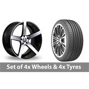 4 X 20 Axe Ex18 Black Polished Alloy Wheel Rims And Tyres - 275/35/20