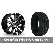 4 X 19 Axe Ex15 Black Polished Alloy Wheel Rims And Tyres - 215/35/19