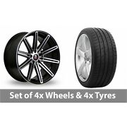 4 X 19 Axe Ex15 Black Polished Alloy Wheel Rims And Tyres - 285/30/19