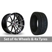 4 X 20 Axe Ex16 Polished Alloy Wheel Rims And Tyres - 275/40/20