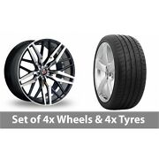 4 X 20 Axe Ex30 Black Polished Alloy Wheel Rims And Tyres - 265/30/20