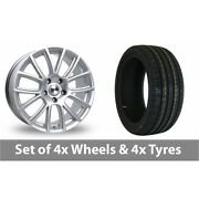 4 X 19 Tekno Rx7 Silver Alloy Wheel Rims And Tyres - 245/35/19