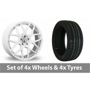 4 X 18 Cades Bern White Alloy Wheel Rims And Tyres - 245/50/18