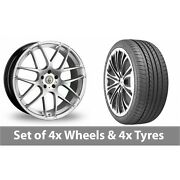 4 X 20 Cades Bern Accent Silver Alloy Wheel Rims And Tyres - 275/35/20