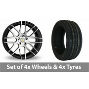 4 X 18 Cades Artemis Black Polished Alloy Wheel Rims And Tyres - 225/45/18