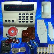 Wireless Home Security System -led Burglar Fire Alarm House Phone Dialer New G01
