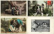 Glamour Real Photo Boys And Girls, Children 94 Vintage Postcards Pre-1940 L2772