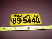 Vintage 1953 Oklahoma Cereal License Plate Bicycle / Pedal Car 89-5440