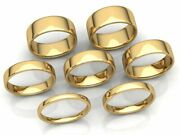 Euro Dome Plain Band Ring Mens Womens 2mm 3mm 4mm 5mm 6mm 7mm 8mm Solid 18k Gold