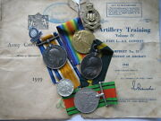 Great War And Wwii Territorial Efficiency Medal Group Ra And Tynemouth Rga