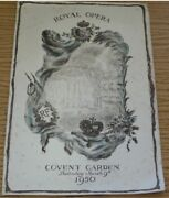 Rare Royal Opera House Covent Garden 1950 King George Vi French President
