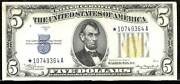 1934a 5 Star Silver Certificate-north Africa Fr2307
