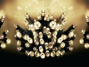 Christmas 200/400 Warm White Led Timer String Fairy Wedding Party Outdoor Lights