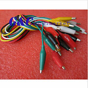 50cm Double-ended Crocodile Clips Cable Alligator Clips Testing Wire M62