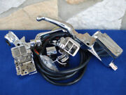 Chrome H/b Control Kit W/chrome Switches For Harley