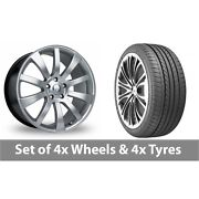 4 X 20 Riva Suv Hyper Silver Alloy Wheel Rims And Tyres - 275/35/20