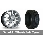 4 X 22 Riva Suv Hyper Silver Alloy Wheel Rims And Tyres - 295/30/22