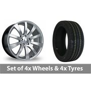 4 X 22 Riva Suv Hyper Silver Alloy Wheel Rims And Tyres - 305/40/22