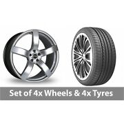 4 X 20 Riva Fwd Hyper Silver Alloy Wheel Rims And Tyres - 275/35/20