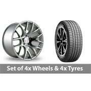 4 X 19 Threesdm 0 01 Silver Polished Alloy Wheel Rims And Tyres - 255/45/19