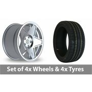 4 X 18 Threesdm 0 05 Silver Polished Alloy Wheel Rims And Tyres - 245/50/18