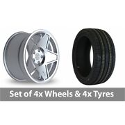 4 X 19 Threesdm 0 05 Silver Polished Alloy Wheel Rims And Tyres - 245/40/19
