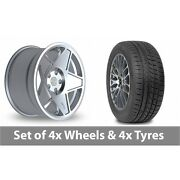 4 X 19 Threesdm 0 05 Silver Polished Alloy Wheel Rims And Tyres - 265/30/19