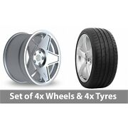 4 X 19 Threesdm 0 05 Silver Polished Alloy Wheel Rims And Tyres - 285/30/19