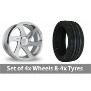 4 X 19 Threesdm 0 06 Silver Polished Alloy Wheel Rims And Tyres - 235/55/19