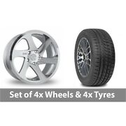 4 X 19 Threesdm 0 06 Silver Polished Alloy Wheel Rims And Tyres - 265/30/19