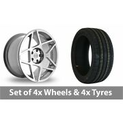 4 X 20 Threesdm 0 08 Silver Polished Alloy Wheel Rims And Tyres - 245/40/20