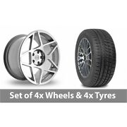 4 X 20 Threesdm 0 08 Silver Polished Alloy Wheel Rims And Tyres - 245/45/20