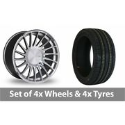 4 X 19 Threesdm 0 04 Silver Polished Alloy Wheel Rims And Tyres - 245/35/19