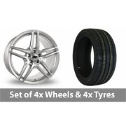 4 X 19 Drc Dmb Silver Alloy Wheel Rims And Tyres - 245/35/19