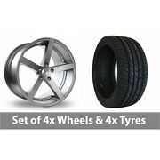 4 X 22 Ac Wheels Star Five Grey Alloy Wheel Rims And Tyres - 265/30/22