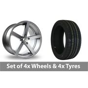 4 X 22 Ac Wheels Star Five Grey Alloy Wheel Rims And Tyres - 305/40/22