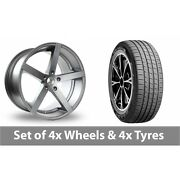 4 X 19 Ac Wheels Star Five Grey Alloy Wheel Rims And Tyres - 255/45/19
