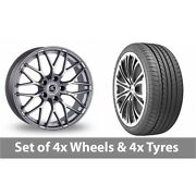 4 X 20 Ac Wheels Saphire Silver Alloy Wheel Rims And Tyres - 275/35/20
