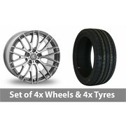 4 X 20 Ac Wheels Syclone Hyper Silver Alloy Wheel Rims And Tyres - 245/40/20