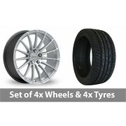 4 X 20 Inovit Force 5 Silver Alloy Wheel Rims And Tyres - 255/45/20