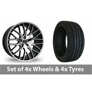 4 X 22 Diewe Fina Black Polished Alloy Wheel Rims And Tyres - 275/40/22