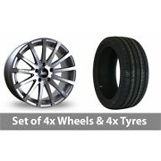 4 X 20 Bola Xtr Silver Polished Alloy Wheel Rims And Tyres - 255/40/20