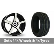 4 X 18 Bola B2 Black Polished Alloy Wheel Rims And Tyres - 235/40/18
