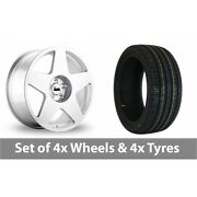 4 X 18 Bola B10 Silver Alloy Wheel Rims And Tyres - 215/35/18