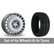 4 X 18 Bola B12 Silver Alloy Wheel Rims And Tyres - 255/45/18