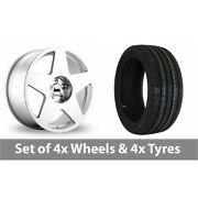 4 X 19 Bola B10 Silver Polished Alloy Wheel Rims And Tyres - 245/40/19