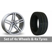 4 X 19 Bola B3 Silver Alloy Wheel Rims And Tyres - 255/35/19